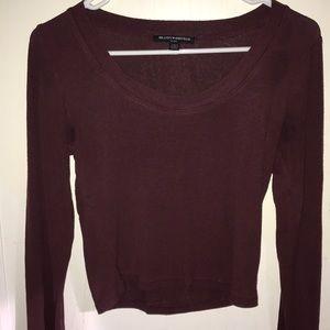 Brandy Melville maroon long sleeve shirt